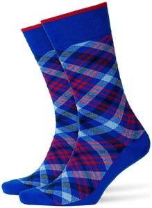 Burlington Cadogan Socks Cobalt Melange