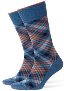 Burlington Cadogan Socks Denim Blue