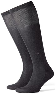 Burlington Cardiff Knee-Highs Deep Dark Anthracite Melange