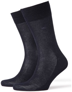 Burlington Cardiff Socks Dark Navy