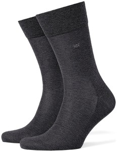 Burlington Cardiff Socks Deep Dark Anthracite Melange