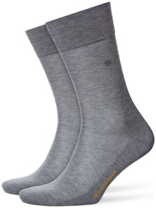 Burlington Cardiff Socks Steel Melange