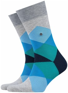 Burlington Clyde Socks Grey-Red