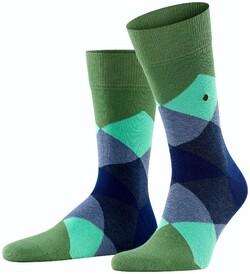 Burlington Clyde Socks Khaki Green