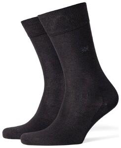 Burlington Dublin Socks Anthracite Grey