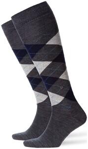 Burlington Edinburgh Knee-Highs Grey Shadow