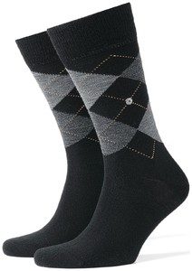 Burlington Edinburgh Socks Black