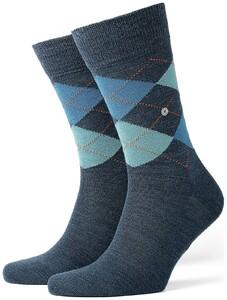 Burlington Edinburgh Socks Dark Blue