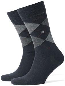 Burlington Edinburgh Socks Dark Navy Melange