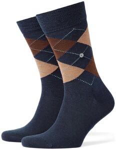 Burlington Edinburgh Socks Deep Navy Blue