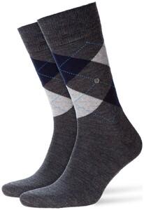 Burlington Edinburgh Socks Grey Shadow