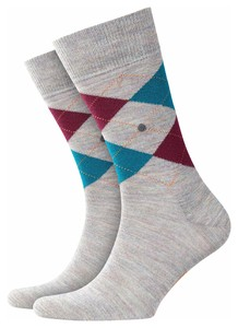 Burlington Edinburgh Socks Moon Mist Melange