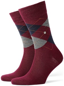 Burlington Edinburgh Socks Rose Orange