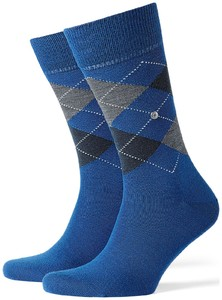 Burlington Edinburgh Socks Royal Blue Melange