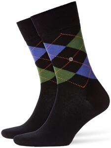 Burlington Edinburgh Sokken Melange Zwart