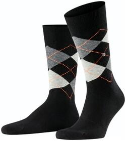 Burlington King Socks Sokken Black Flames