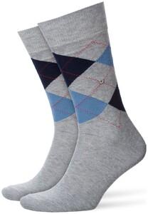 Burlington King Socks Sokken Licht Grijs