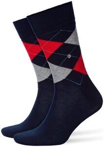 Burlington King Socks Sokken Marine