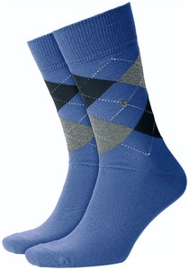 Burlington King Socks Sokken Saffier