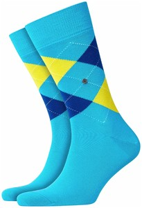 Burlington King Socks Sokken Turquoise Melange