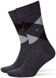 Burlington King Socks Sokken Zwart-Antraciet