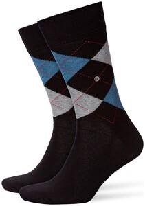 Burlington King Socks Sokken Zwart Melange