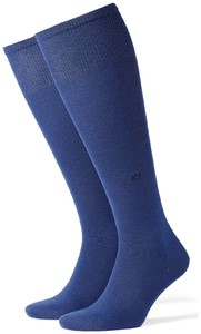 Burlington Leeds Kniekousen Royal Blue Melange
