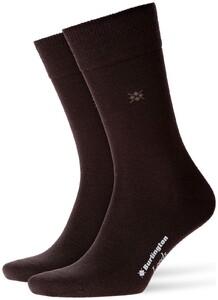 Burlington Leeds Socks Brown