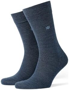 Burlington Leeds Socks Dark Blue Extra Melange