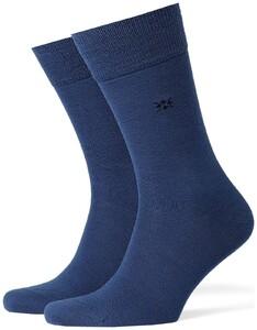 Burlington Leeds Socks Royal Blue Melange