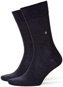 Burlington Lord Socks Sokken Zwart-Antraciet