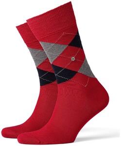 Burlington Manchester Socks Coral Red