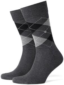 Burlington Manchester Socks Deep Dark Anthracite Melange
