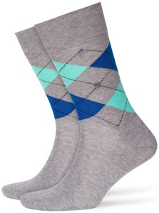 Burlington Manchester Socks Grey Melange Contrast