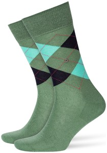 Burlington Manchester Socks Khaki Green