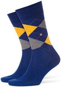 Burlington Manchester Socks Paris Blue