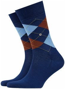 Burlington Manchester Socks Smalt Blue