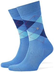 Burlington Manchester Socks Turquoise Melange