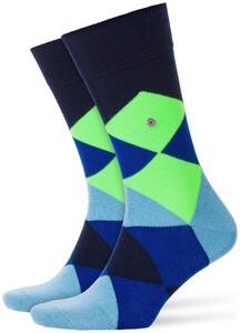 Burlington Neon Clyde Socks Marine