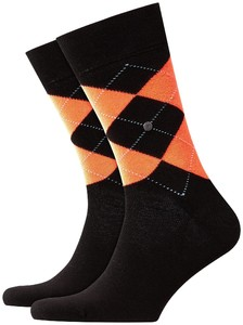 Burlington Neon King Socks Black Melange Dark