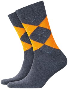Burlington Neon King Socks Carbon Melange