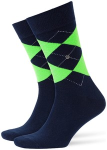 Burlington Neon King Socks Dark Marine