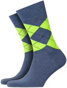 Burlington Neon King Socks Turquoise