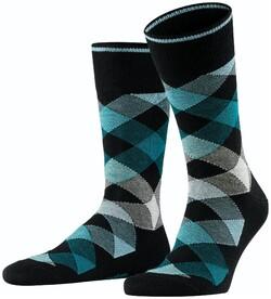 Burlington Newcastle Socks Black Melange Dark