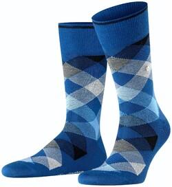 Burlington Newcastle Socks Deep Royal Blue Melange