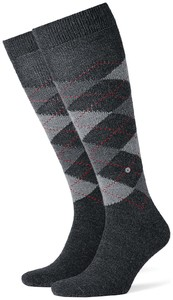 Burlington Preston Knee-Highs Deep Anthracite Melange