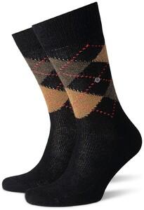 Burlington Preston Socks Black Sahara