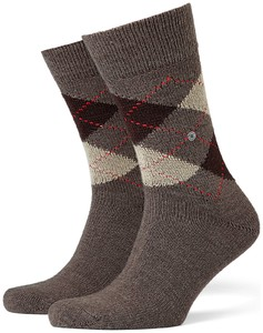 Burlington Preston Socks Brown Melange Dark