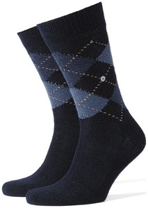 Burlington Preston Socks Dark Navy