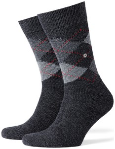Burlington Preston Socks Deep Anthracite Melange